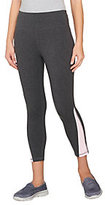 As Is Denim & Co. Active Duo- Stretch Crop Pants with Color-Block