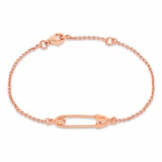True Rocks Safety Pin Bracelet Rose Gold