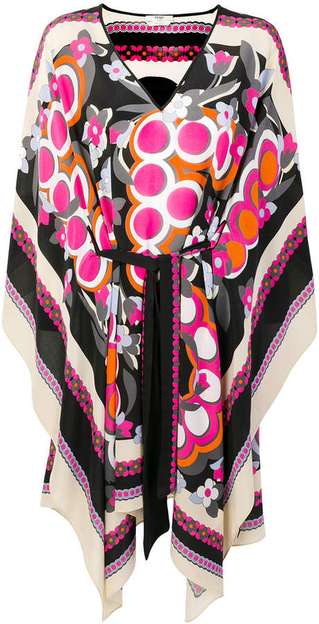 Fendi logo floral print dress