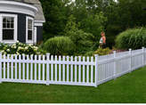 Zippity Outdoor Products 3 ft. x 6 ft. Newport Picket Yard Fence