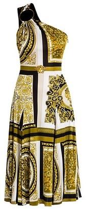 Versace Barocco Mosaic Print Midi Dress