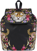 Accessorize Tiger Garden Embroidered Backpack