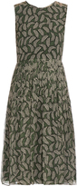 Burberry Leaf-print silk-crepon dress