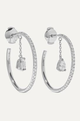 Yvonne Léon 18-karat White Gold Diamond Hoop Earrings - one size
