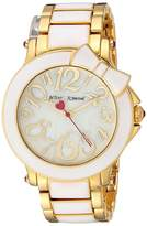 Betsey Johnson BJ00459-10 - Bow White Enamel Watches
