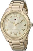 Tommy Hilfiger Women's 1781345 Casual Sport -Plated Coin Edge Bezel Watch