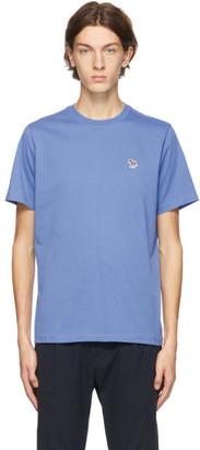 Paul Smith Blue Organic Zebra Logo T-Shirt