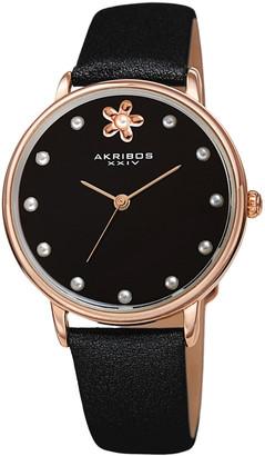 Akribos XXIV Women's Genuine Leather Watch