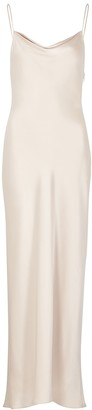 Alice + Olivia Harmony champagne satin dress