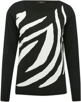 M&Co Zebra print jumper