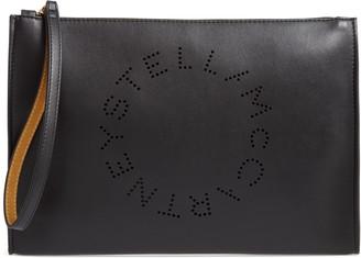 Stella McCartney Pochette Faux Leather Zip Pouch