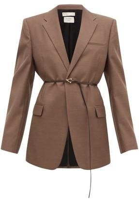Bottega Veneta Belted Single-breasted Wool Jacket - Brown
