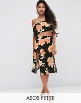 Asos Large Bloom Frill Beach Midi Skirt