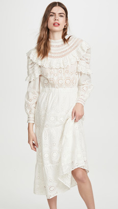 Sea Daisy Long Sleeve Dress