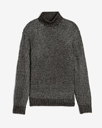 Express Cozy Marled Wool-Blend Turtleneck Sweater