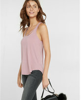 Express slash neck tank
