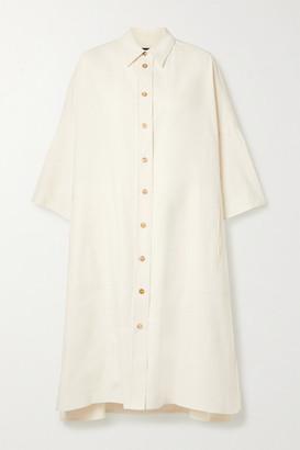 Joseph Baker Cotton And Linen-blend Dress - White