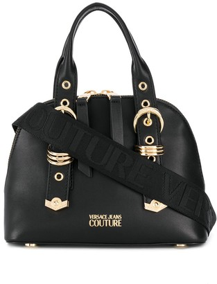 Versace Buckled Strap Tote Bag