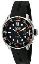 Alpina Men's AL-525LBO4V26 Seastrong Diver 300 Analog Display Automatic Self Wind Black Watch