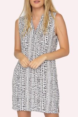 Tart Palma Split Neck Sleeveless Shift Dress