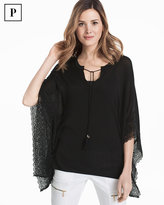 White House Black Market Petite Butterfly Lace Pullover Sweater