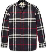 Burberry - Brit Button-down Collar Checked Cotton-twill Shirt