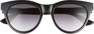 Gucci 53mm Gradient Cat Eye Sunglasses