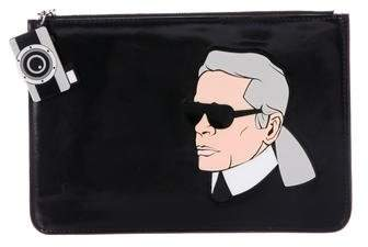 Yazbukey Patent Leather Karl Clutch