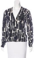 Bottega Veneta Abstract-Patterned Cashmere Cardigan