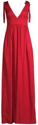 Rebecca Vallance Harlow Tie-Shoulder A-Line Gown