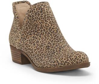 Lucky Brand Baley Leather Block Heel Bootie