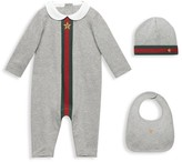 Gucci Baby's Three-Piece Coverall, Bib & Hat Gift Set