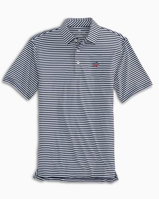 Southern Tide Driver USA Striped Performance Polo Shirt