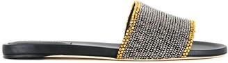 Alberta Ferretti Studded Trim Slip-On Sandals