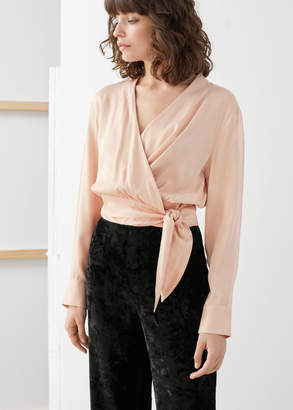 And other stories Scarf Tie Wrap Blouse