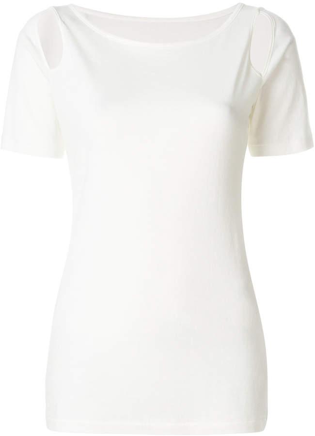 Yohji Yamamoto cut out T-shirt