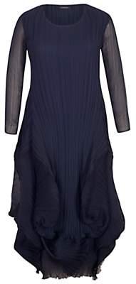 chesca Chesca Matte Crepe Crush Pleat Dress