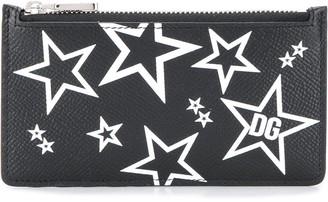 Dolce & Gabbana Star Print Card Holder