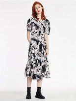 CK Calvin Klein Floral Print Satin Dress