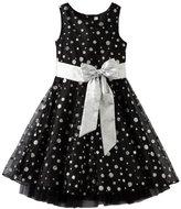 Sweet Heart Rose Girls 7-16 Glitter Polka Dot Occasion Dress