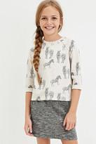Forever 21 Girls Zebra Print Sweatshirt (Kids)