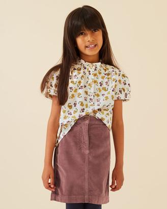 Jigsaw Cord Skirt