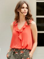 M&Co Sleeveless frill wrap top