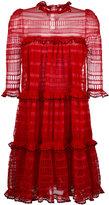 Alexander McQueen A-line mini dress - women - Silk/Cotton/Polyamide/Viscose - S