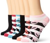 K. Bell Socks Women's Lips 6-Pair Pack Socks