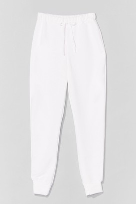 Nasty Gal Womens There Chances Are Slim High-Waisted Joggers - Ivory
