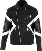 Neil Barrett Chalk Panelled Biker Jacket