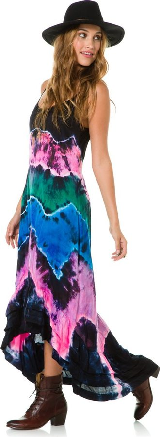 Billabong Hometown Fair Hi Lo Maxi Dress