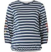 Dorothy Perkins Womens **Maternity Navy and Ivory Striped Top