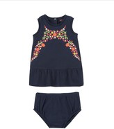 Juicy Couture Baby Knit Embroidered Pique 2pc Dress Set